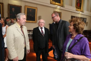 Repro Free: Thursday 15th September 2016. President of Ireland Michael D. Higgins payed a visit to Dublin City Council's Tenement Museum Dublin Project, 14 Henrietta Street. Picture Jason Clarke